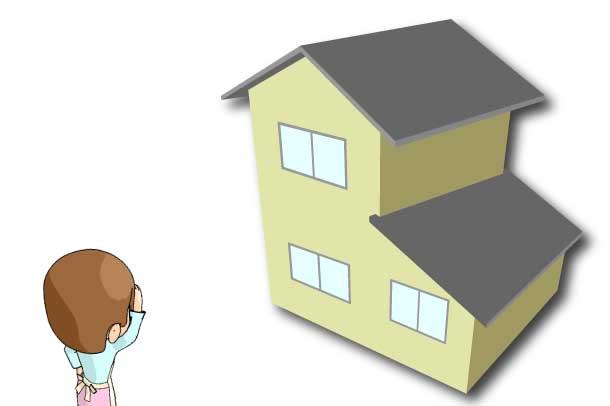 屋根を見上げる-1