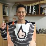台湾からのお客様『かわら割り道場』で10枚挑戦!