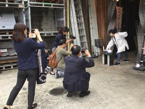 台湾のお客様撮影風景
