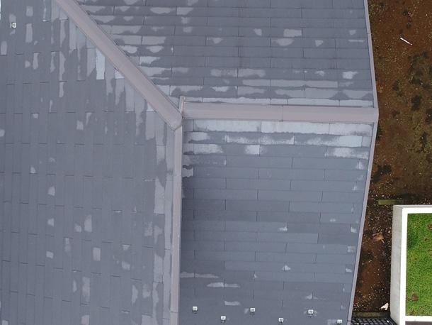 雨上がりの屋根
