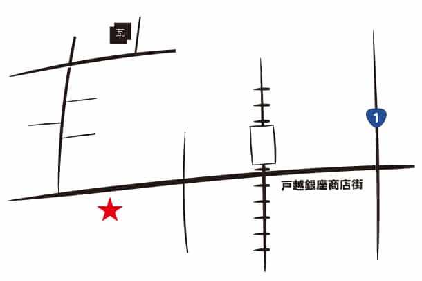 フロレスタとかわら割道場の地図
