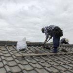 【千葉県柏市】瓦屋根の棟積みなおし工事の様子です