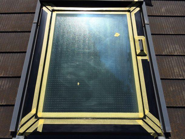 天窓雨漏り修理 ガラスパッキン修理2