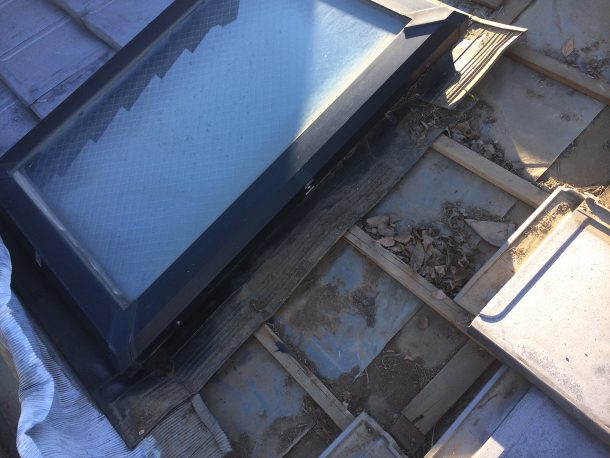 瓦屋根 天窓雨漏り修理