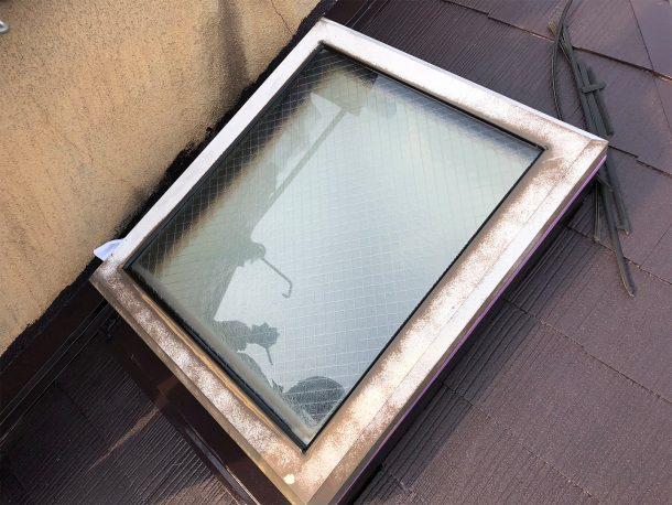 天窓ガラスシール 完成