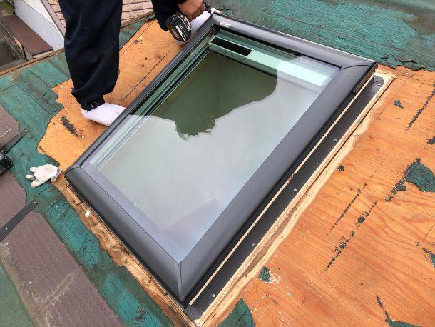 天窓交換工事事例 新しい天窓の設置