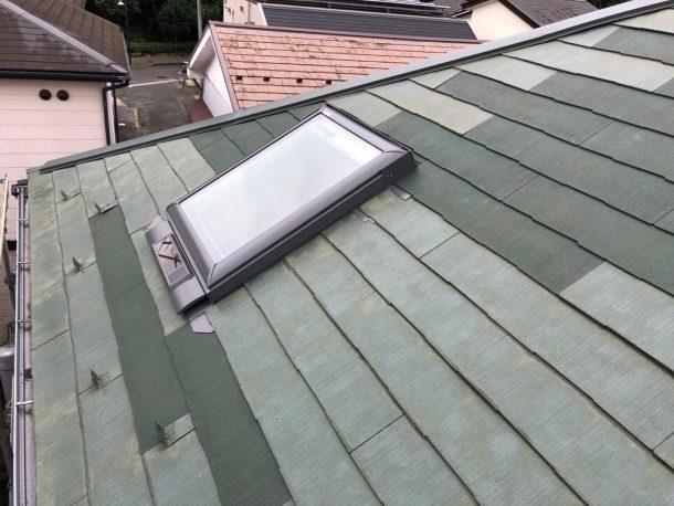 天窓交換工事事例 交換完了 屋根上