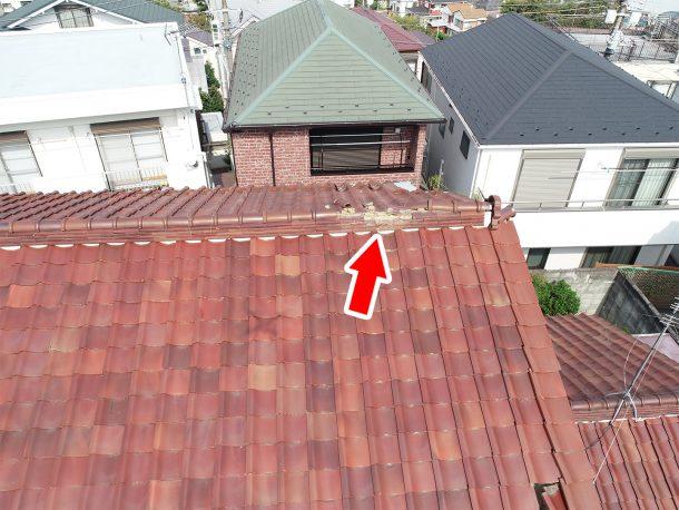 和瓦、洋瓦の屋根 台風被害1