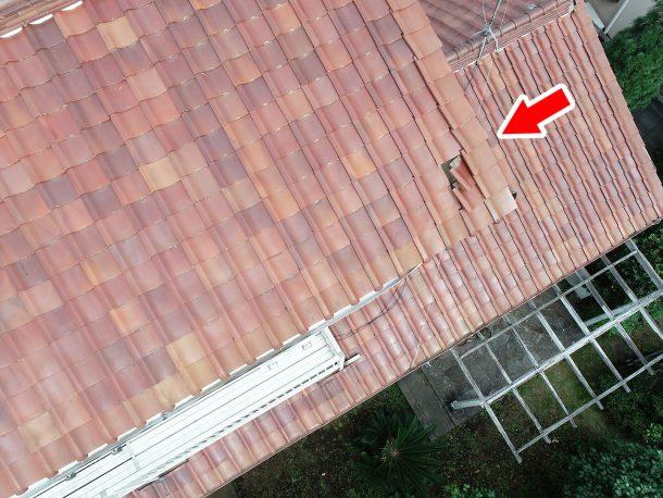 和瓦、洋瓦の屋根 台風被害3