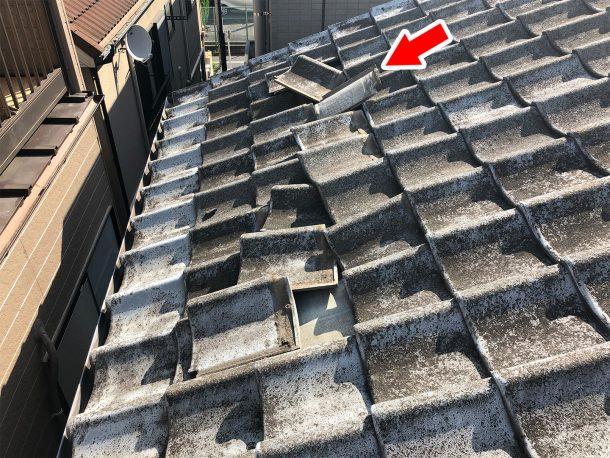 和瓦、洋瓦の屋根 台風被害5