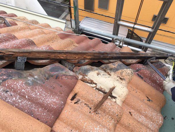 和瓦、洋瓦の屋根 台風被害7