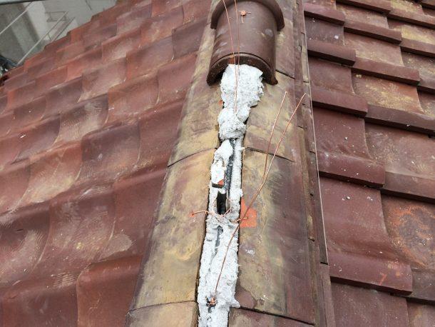 和瓦、洋瓦の屋根 棟取り直し工事5