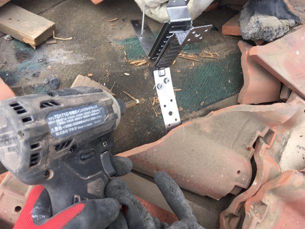和瓦、洋瓦の屋根 棟取り直し工事7