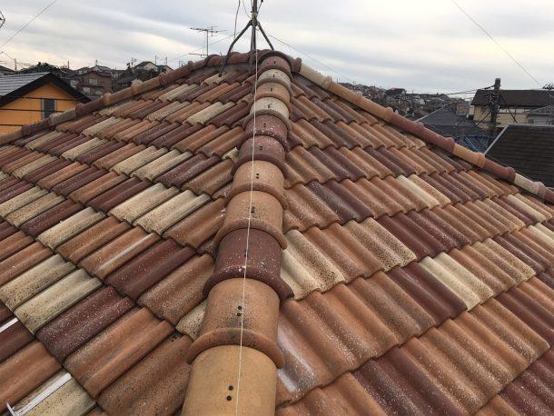 和瓦、洋瓦の屋根 棟取り直し工事10