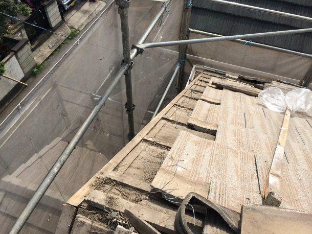 洋瓦の屋根 けらばの取り直し2