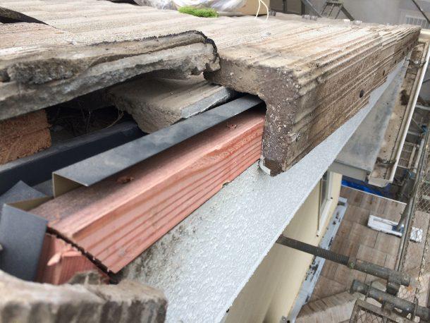 洋瓦の屋根 けらばの取り直し4