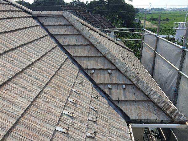 和瓦、洋瓦の屋根 谷の取り直し1