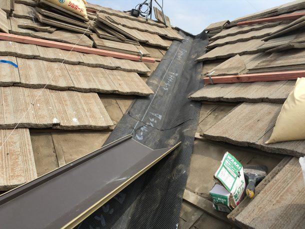 和瓦、洋瓦の屋根 谷の取り直し2