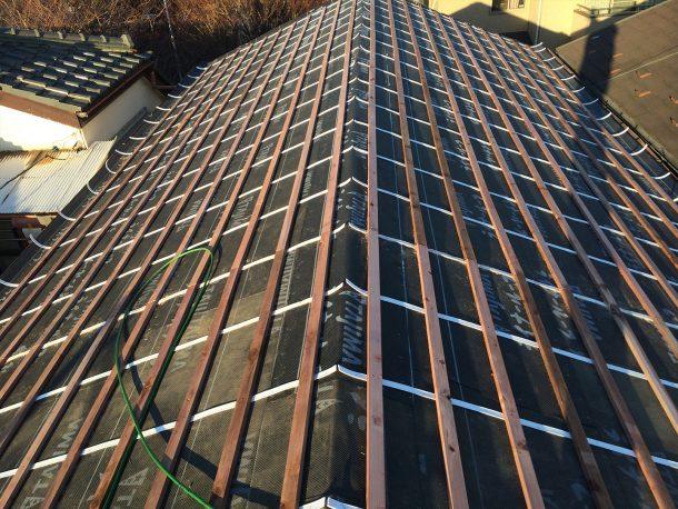 和瓦、洋瓦の屋根 葺き替え、葺き直し工事3