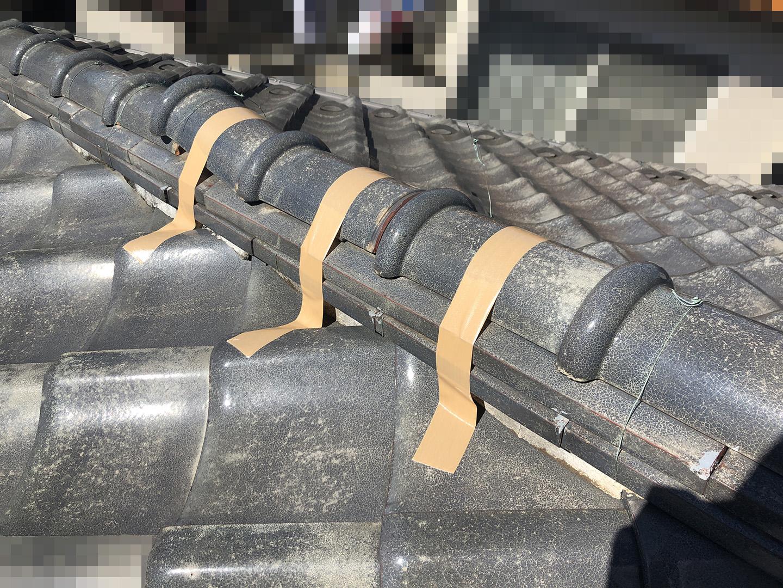 【川崎市中原区】瓦屋根の棟の取り直し工事、耐震補強工事 (ガイドライン工法) の事例2