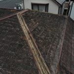 【東京都品川区】台風被災、スレート・コロニアル屋根、棟板金の交換修理工事の事例