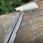 【横浜市中区】台風被災、スレート・コロニアル屋根、棟板金の交換修理工事の事例
