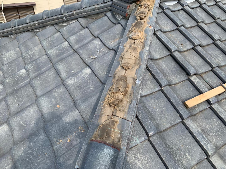 【川崎市中原区】瓦屋根の棟の取り直し工事、耐震補強工事 (ガイドライン工法) の事例3