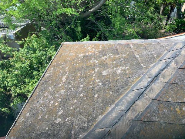 【横浜市中区】台風被災、スレート・コロニアル屋根、棟板金の交換修理工事の事例3