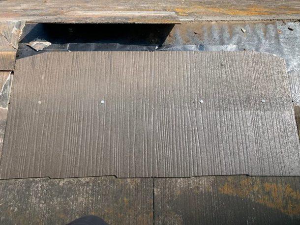 【横浜市中区】台風被災、スレート・コロニアル屋根、棟板金の交換修理工事の事例4