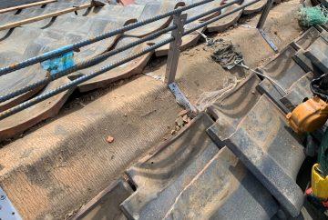 【川崎市中原区】瓦屋根の棟の取り直し工事、耐震補強工事 (ガイドライン工法) の事例5