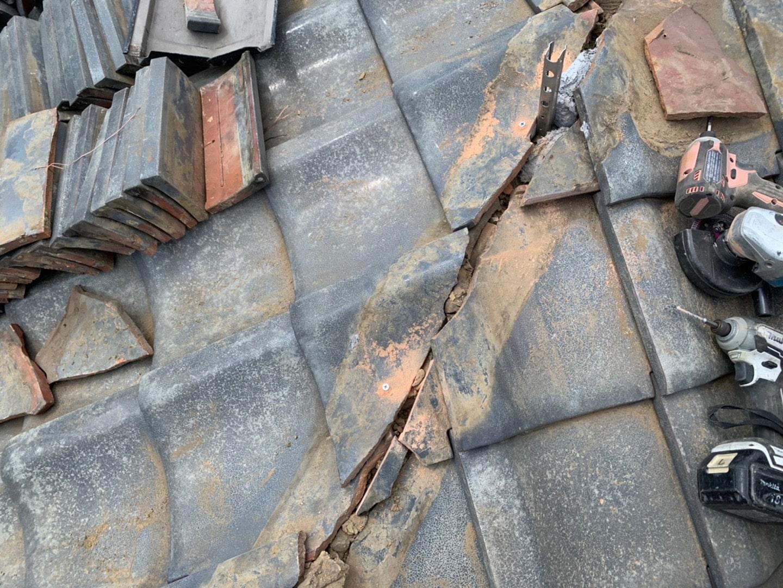 【川崎市中原区】瓦屋根の棟の取り直し工事、耐震補強工事 (ガイドライン工法) の事例6