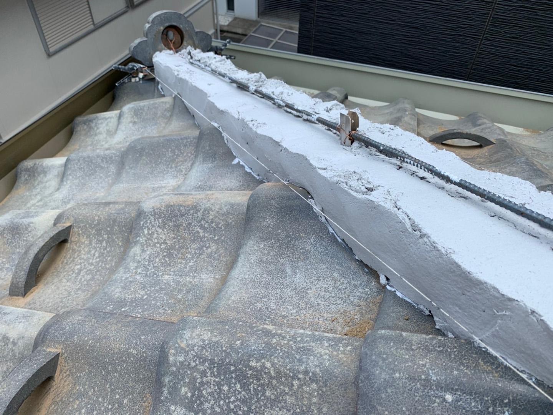 【川崎市中原区】瓦屋根の棟の取り直し工事、耐震補強工事 (ガイドライン工法) の事例7