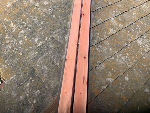 【横浜市中区】台風被災、スレート・コロニアル屋根、棟板金の交換修理工事の事例7