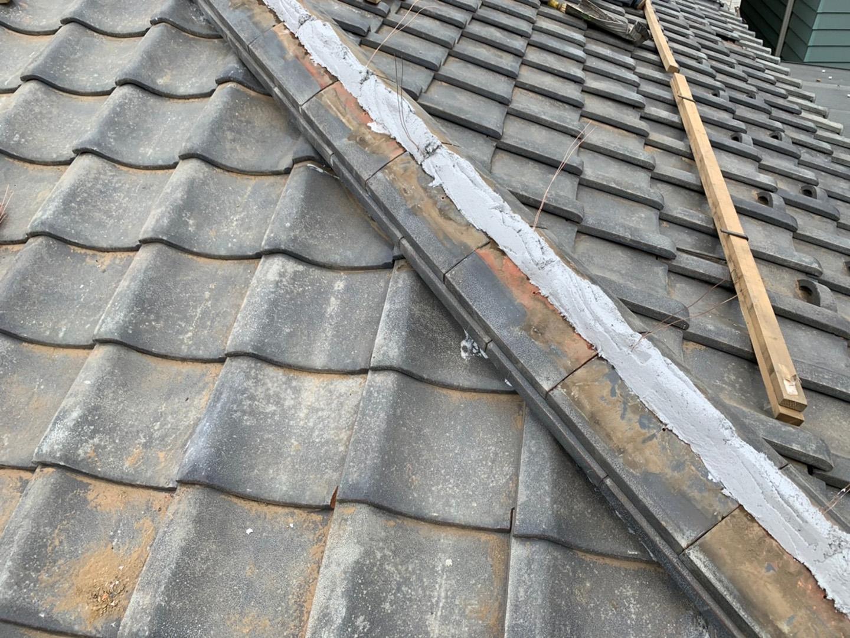 【川崎市中原区】瓦屋根の棟の取り直し工事、耐震補強工事 (ガイドライン工法) の事例8