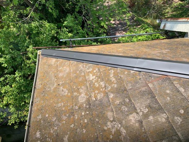 【横浜市中区】台風被災、スレート・コロニアル屋根、棟板金の交換修理工事の事例9