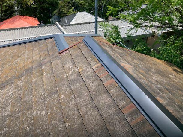 【横浜市中区】台風被災、スレート・コロニアル屋根、棟板金の交換修理工事の事例10
