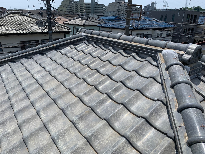 【川崎市中原区】瓦屋根の棟の取り直し工事、耐震補強工事 (ガイドライン工法) の事例11