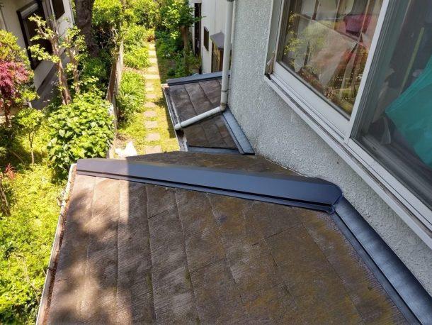【横浜市中区】台風被災、スレート・コロニアル屋根、棟板金の交換修理工事の事例12