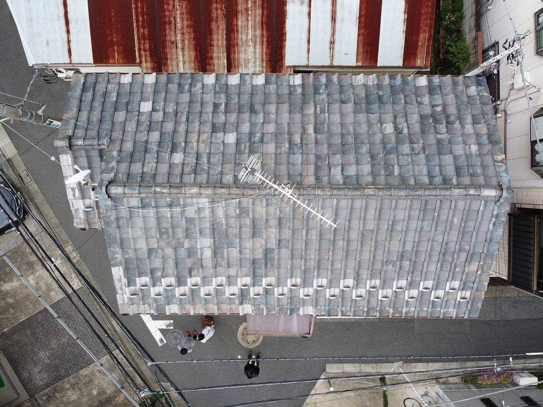 【東京都品川区】瓦屋根の雨漏り、部分修理工事の事例1