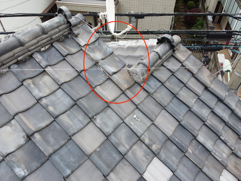【東京都品川区】瓦屋根の雨漏り、部分修理工事の事例4