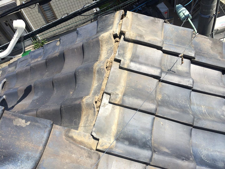 【東京都品川区】瓦屋根の雨漏り、部分修理工事の事例7