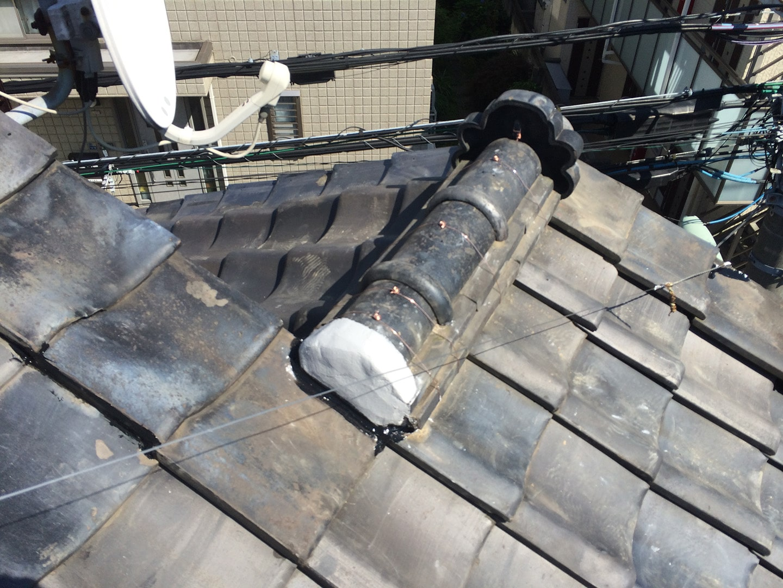 【東京都品川区】瓦屋根の雨漏り、部分修理工事の事例9