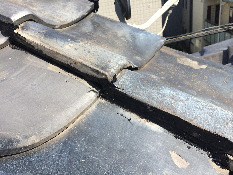 【東京都品川区】瓦屋根の雨漏り、部分修理工事の事例10