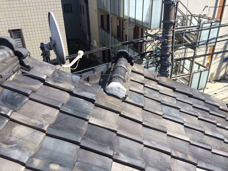 【東京都品川区】瓦屋根の雨漏り、部分修理工事の事例12