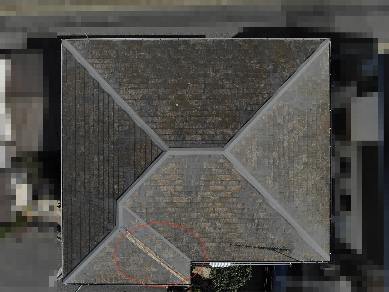 【千葉市稲毛区】台風被災、スレート・コロニアル屋根、棟板金の交換修理工事の事例21