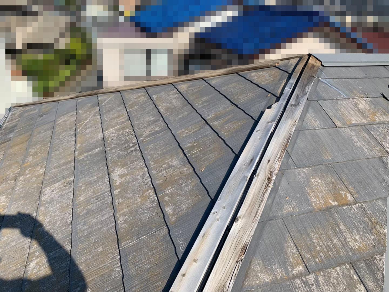 【千葉市稲毛区】台風被災、スレート・コロニアル屋根、棟板金の交換修理工事の事例22
