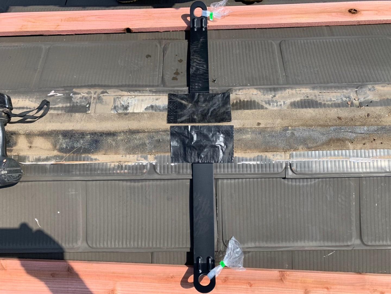 【千葉県市原市】台風で被災した金属屋根、棟板金の交換修理工事の事例12