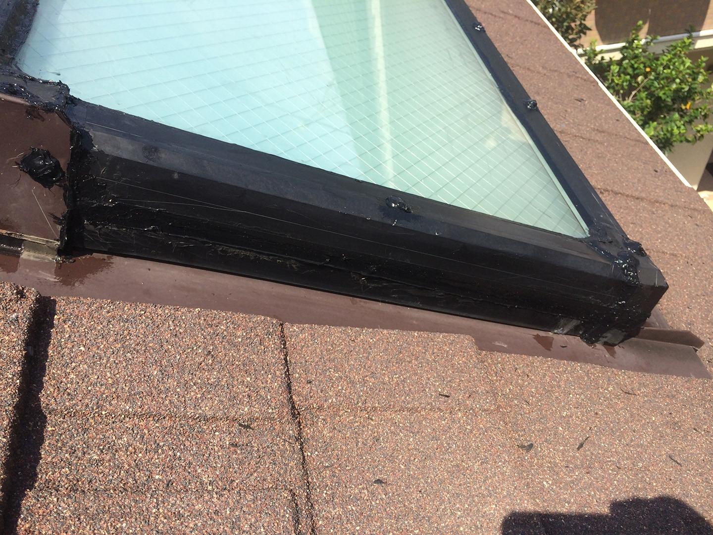 【神奈川県大和市】立山アルミの天窓のガラスパッキン劣化による雨漏りの修理工事の事例17
