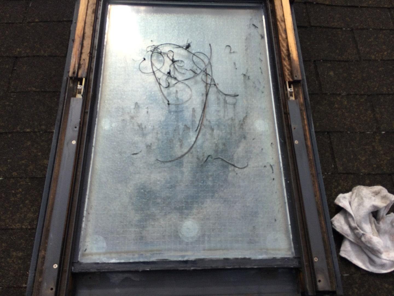 【東京都新宿区】トステム「 スカイライト 」のガラスパッキン劣化による天窓雨漏りの修理工事の事例10