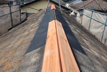 【東京都八王子市】スレート・レサス屋根、棟板金の交換工事と、ひび割れ修理の事例7